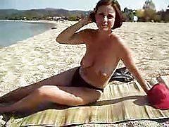 beach wife topless
