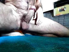 uncut hairy bear cumming