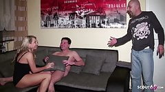 Husband caught German Wife with Young Boy and Join Threesome