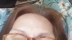 Granny Evenyn Santos does anal show again.
