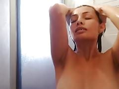 Latina Girl Showering