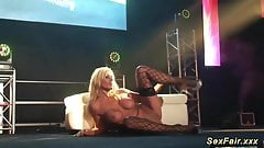 my busty german stepmom naked on stage