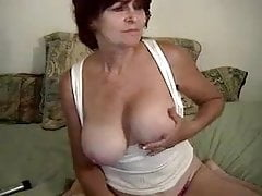 Brunette Granny Anal Cam 3