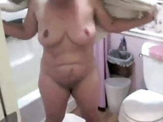 Female genitalia water torture for sexual stimulation - Mature nude female ss drying off after bath non-sexual