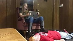 Princess Tayler - President's Day Footrest (human furniture)