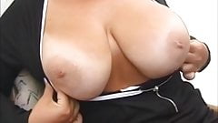mom brags her tits