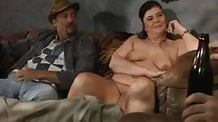 Fat chick sucks and gets fingered in ass