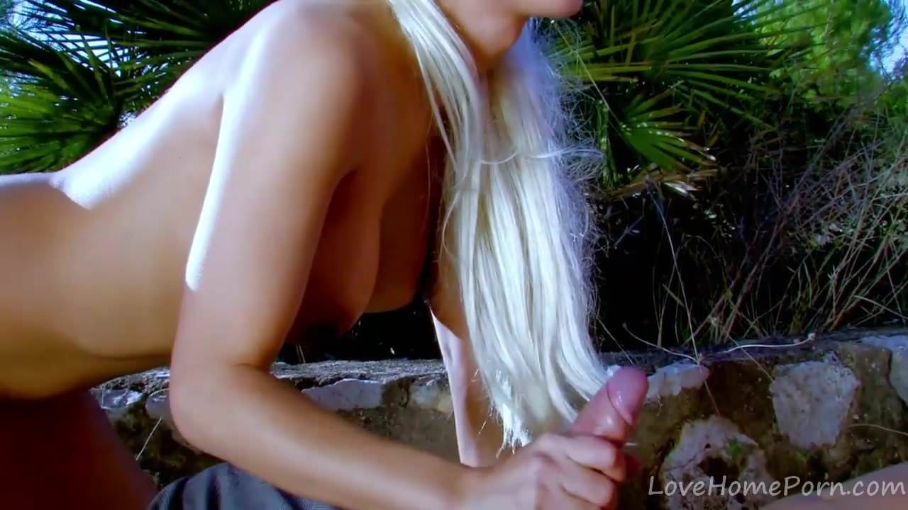 Long-Haired Blonde Sucks Cock And Fucks.mp4