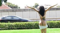 Exhibitionist Latina banged hard
