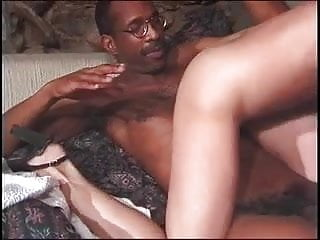 Young brunette loves to suck and get fucked hard by big black cock