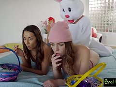 Easter Egg Hunt Gets Bunny Fucked By Hot BFF And StepSis! S4
