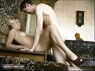 Hot russian couple trying out different sex positions
