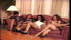 90's Ebony Lesbian Orgy