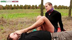 The Voyeur Ep1 Part 2- Barefoot Licking in the Outdoor
