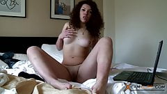 Ayanna Webcam - Hot Curly Brunette is Teasing her Pussy