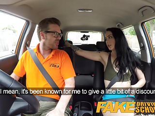 Fake Driving School Cum covered pussy after gamer minx