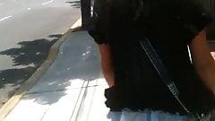 Syringe on street girl 9 (Jeringa en la calle a jovencita)