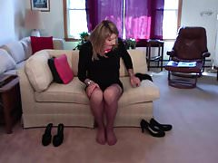 Changing shoes and stockings