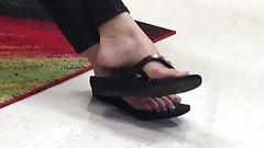 Candid teacher's feet (not my video)