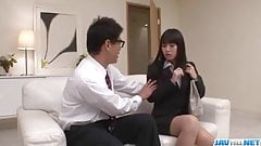 Kotomi Asakura craves for cock in her moist vagina