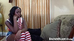 Seductive black lady is ready for a steamy fuck session