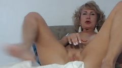 Elegant blonde mature