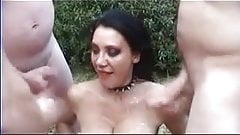 Amateur British Slutwife Outdoor Gangbang Creampie & Facial