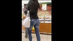 Glamorous girl with beautiful ass