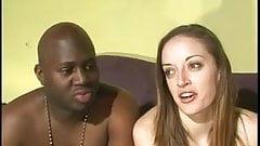 Black Cock Stretchin' Hot Split