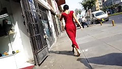 SEXY DRESS ASS WALKING