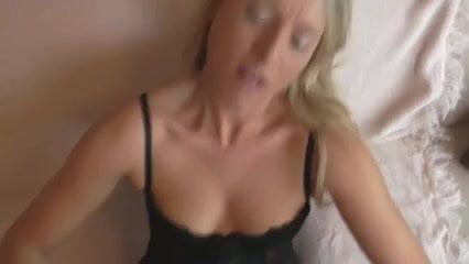 German Blonde Gets Cum on Asshole