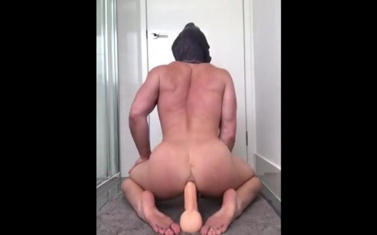 gay muscle porn clip: Hunk + dildo, on hotmusclefucker.com