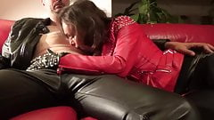 Leather Blowjob 2