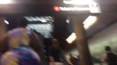 Amazing BBW on the subway