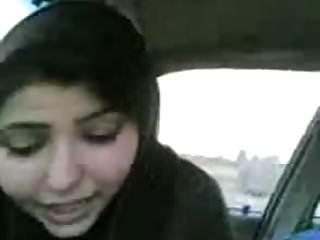 Desi Bhabhi sucking cock Eat Cum car BJ in UK hijab muslim