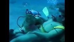 Scuba blonde makes him cum