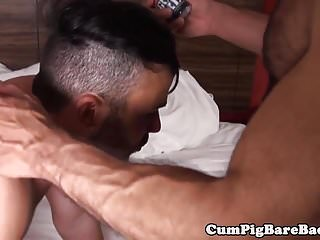 Preview 1 of Fit jock barebacked by black hunk