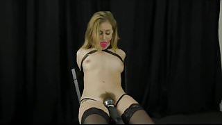 Armbinder Chair Tied Orgasm
