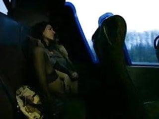 Wifey Masturbates on a Public Bus