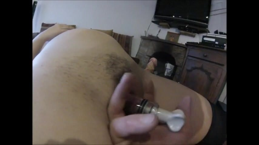 Tight ass with a rabbit before DP