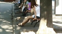 Candid Ukrainian Girl Sexy Legs