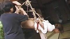 Japanese babe tied with her kimono Shibari