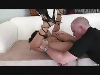 Petite Ebony Big White Cock Fucking