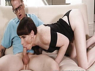 Sensual shemale Natalie Mars seduces the big dick pool guy