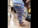 REMASTER: Ebony Bubble Booty In Blue Tights At Wally World