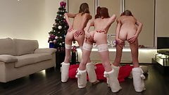 3 girls dance for Xmas