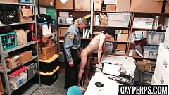 Twink suspect gets bareback screwed by a horny officer