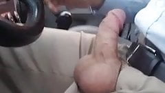 Car dick flash slo-mo slow motion redhead