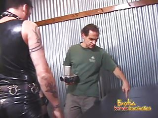 Two delicious gals and one dude enjoy filming naughty BDSM s