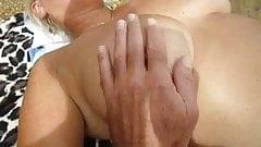 boob play on nude beach